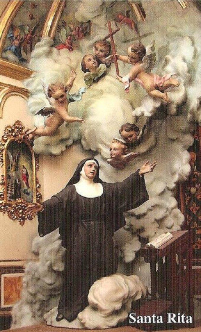 Prions ensemble avec Sainte Rita pour tous nos défunts.