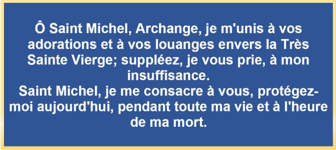 Prière à Saint Michel Archange contre tout ennemi