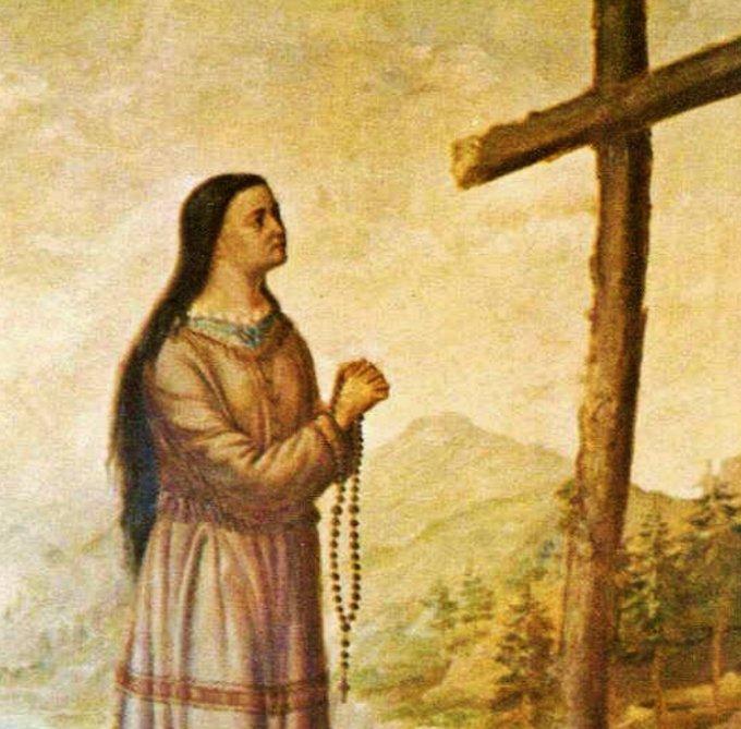St. Kateri Painting, Fonda, New York